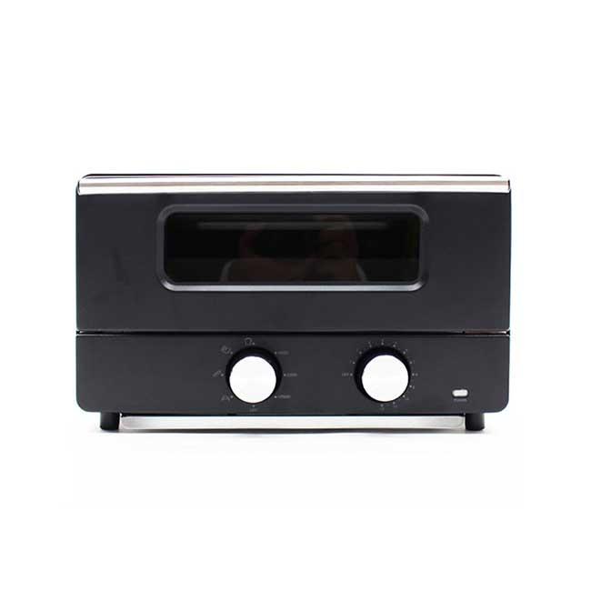 日本HIRO 蒸氣烤箱 HE-ST001 光澤黑 烤箱 烤土司 過熱水蒸氣