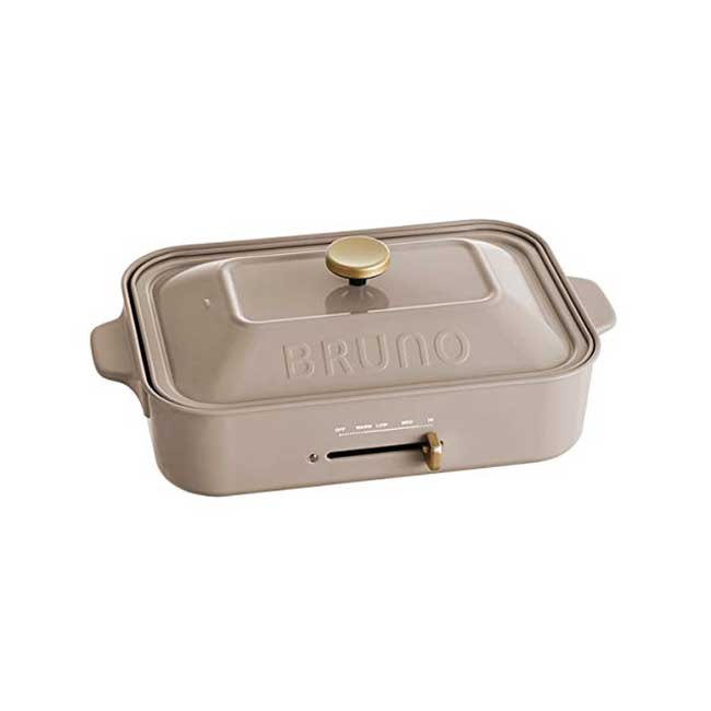 BRUNO 2018秋冬限定 多功能電烤盤 裸灰色 鑄鐵 無煙 烤盤 生鐵鍋