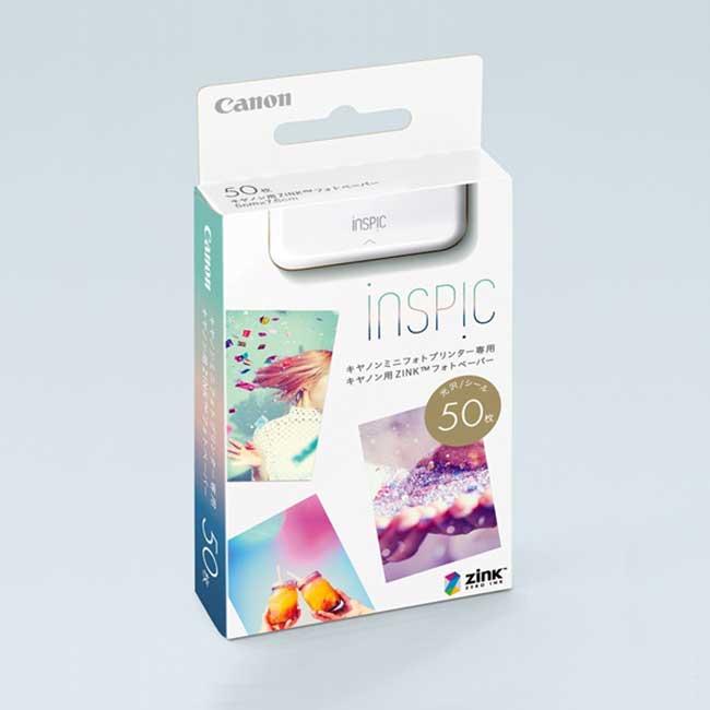 CANON iNSPiC PV-123 迷你熱感應印相機 貼紙型相紙50枚入 佳能 相印機 日本 日本代購