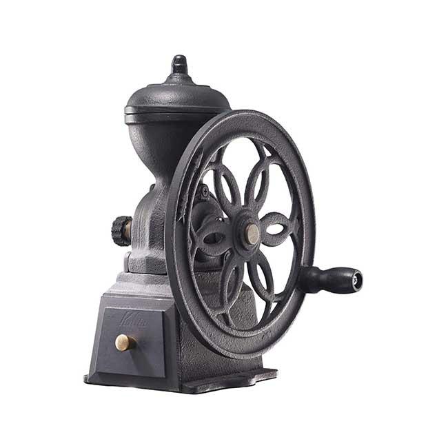 日本製 Kalita復古鑄鐵 轉輪 手動咖啡豆磨豆機 紅色/黑色