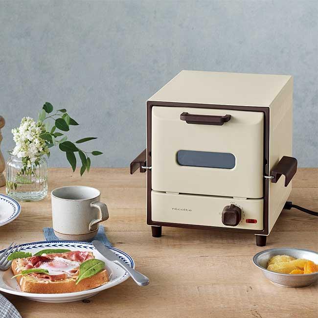 recolte 日本麗克特 Delicat 電烤箱 簡約白 RSR-1 W