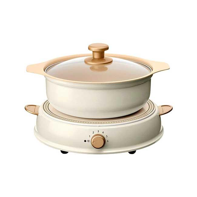 Iris Ohyama ricopa IHLP-R14 IH爐 附陶瓷鍋 6段火力 三色 日本 日本代購