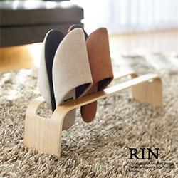 室內拖鞋架 木紋